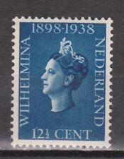 NVPH Netherlands Nederland 312 MLH 1938 regeringsjubileum Wilhelmina NO GUM