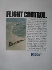 10/1982 PUB HAMILTON STANDARD NORTHROP F-20 TIGERSHARK FLIGHT CONTROLS AD
