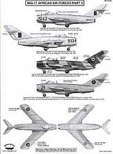 Berna Decals 1/72 MIKOYAN MiG-17 FRESCO Fighter African Air Forces Part 2