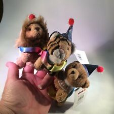 Circus Finger Puppets Lion Tiger Bear Aurora # 06802 Lot of 3