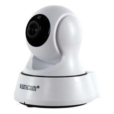 P2P Wireless Remote Monitor Rotate Night Vision IR Two-way Audio IP Camera White