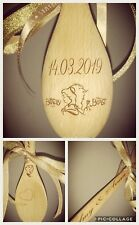 Beauty and the Beast  Good Luck Wedding Token Lucky wooden spoon personalized