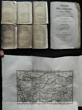 Bd) HISTOIRE DES CROISADES M. Michaud 1825 (Ponthieu) complet 6/6 T. cartes...