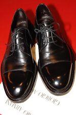 Giorgio Armani Leather Lace-Up Shoes, Black, EU 43.5, US 10.5,  Truly Mint