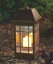 Outdoor Solar Lantern Hanging Light Led Garden Lamp Yard Patio Pillar Candle D56