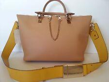 NEW $2050 Chloe Baylee Beige Yellow Medium Shoulder Bag Crossbody Handbag Purse