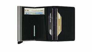 Secrid - Slim Wallet Genuine Vintage Leather RFID Safe Card Case for max 12...