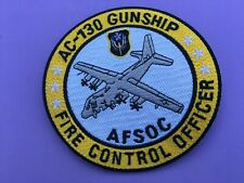 USAF LOCKHEED AC-130 GUNSHIP AFSOC FIRE CONTROL OFFICER PATCH MEASURES 5 IN