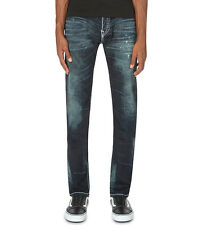NWT TRUE RELIGION JEANS $369 MENS ROCCO SKINNY SUPER T PANTS IN DRY BRUSH SZ 30