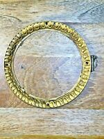 "Old 5 3/4"" Brass Clock Dial Trim Ring   (Needs Repair) (Clock Dial Lot K1474)"