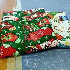 1  yd Lot Christmas Fabric Stockings  Santee