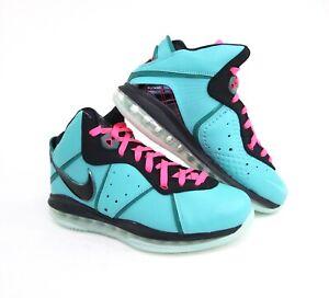 Nike LeBron 8 South Beach QS Teal Pink 2021 Mens CZ0328-400