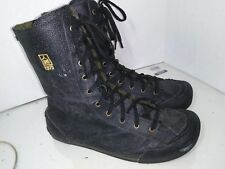 JUMP Black Leather Lined Sneakers Boots High Mens Size 10 1975