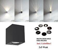 LED Wandlampe Wandleuchte Canto Kubi schwarz Nordlux Wand 2x5W 700Lm Lichtfilter