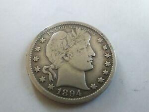 1894 O 25C Barber Quarter. VF to XF! Very nice piece!!