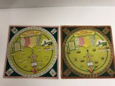 Vintage Lot 2 Kellogg's Cereal Wheel of Knowledge Facts About the United States