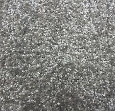 SOFT 9mm Thick Silver Grey Felt Back Saxony Carpet Remnant/Roll End 3m x 4m