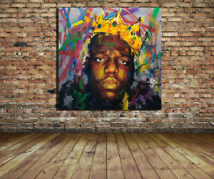 Biggie Smalls Custom 24x24 Canvas Print Hip Hop Notorious BIG Giclee-1 Available