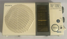 Vintage Sony Tap Tunes Icf-S77W Tv Hi Tv Low Fm Am Shower Radio 4 Band Receiver.
