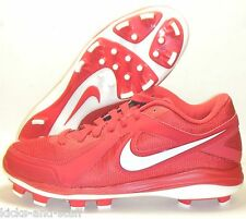New Nike Air MVP Pro MCS Baseball Cleats Size 13.5 Red White Molded Plastic