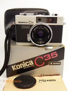 KONICA C35 POINT & SHOOT FILM CAMERA *BOXED NEAR MINT*