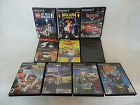 Lot of 10 PS2 PlayStation Video Games; Simpsons, FORD vs CHEVY, Star Wars +more
