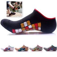 5 Pairs Ankle Socks Men's Cotton Hiking Running Skate Socks Multi-color For Gift