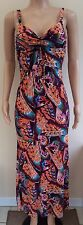 Debenhams Purple Pink Blue Summer Maxi Dress Size 10