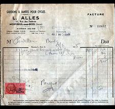 """MONTREUIL-sous-BOIS (93) GUIDONS & JANTES pour CYCLES-VELOS """"L. ALLES"""" en 1948"""