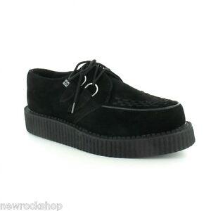 TUK Av7270 T. R.u. Unisexe Neuf Viva Lo Sole Creepers Chaussures Daim Noir A7270
