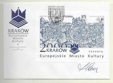 POLAND 2000 FDC!!SLANIA engr &SIGNED!! (f1)
