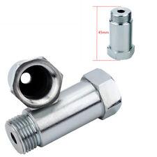 2x Straight Steel Auto Car O2 Oxygen Sensor Extension Spacer Extender M18 x 1.5