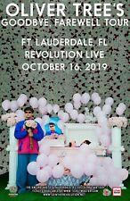 "OLIVER TREE ""GOODBYE, FAREWELL TOUR"" 2019 FT. LAUDERDALE CONCERT POSTER-Alt Rock"