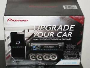 "Pioneer Car Stereo Bundle MVH-S3166BT Digital Media Receiver & 4 6.5"" Speakers"
