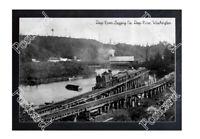 Historic Deep River Logging Co. - Deep River, Washington Train Postcard 4