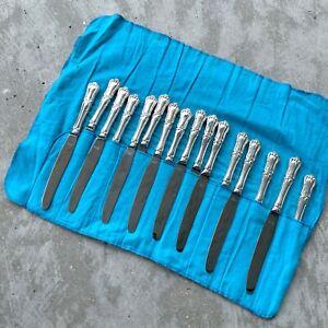 14 x Francis I Dinner hollow Knife Birks sterling silver - 1189 Grams