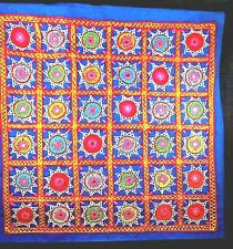 Hand Embroidered MULTI COLOR with Mirrors PILLOW COVER Sham 17 in Square