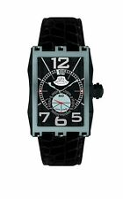 Gio Monaco Men's 595-A Mac V Polished Stainless Steel Alligator Leather Watch