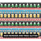"""Christmas Patterned Glitter PGHTV  12"""" ROLL **FREE SHIPPING**"""