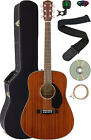 Fender CD-60S Solid Top Dreadnought Acoustic Guitar - All Mahogany w/ Hard Case for sale