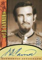 Wild Wild West Season 1 J.D. Cannon Autograph Card A7