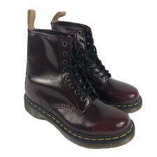 Dr Doc Martens Oxblood Red Maroon 1460 cherry VEGAN Combat Boots UK 5 US 7 EU 38