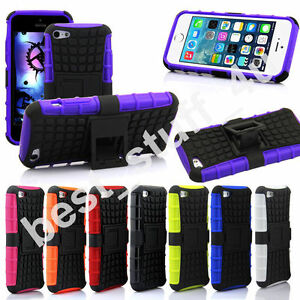 HEAVY DUTY TOUGH SHOCKPROOF STAND HARD CASE COVER MOBILE PHONE FIT IPHONE APPLE