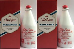 OLD SPICE  WHITEWATER After Shave WHITE WATER Lotion Men Fragrance 2 x 100 ml