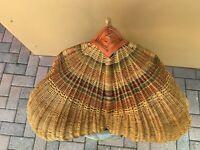 Huge Vtg Wicker Buttocks/Gizzard Basket. Southern Folk Art gone uptown. 26x24x22