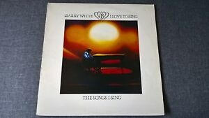 BARRY WHITE - I LOVE TO SING THE SONGS I SING .     LP.