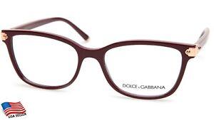 NEW D&G Dolce& Gabbana DG 5036 3091 Bordeaux EYEGLASSES FRAME 53-17-140mm Italy