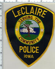 LeClaire Police (Iowa)  Shoulder Patch - Uniform Take-Off from 1990