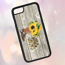 Sunflower Boots Phone Case • Country Quote Watercolor Gift iPhone Galaxy Note LG