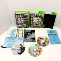 Grand Theft Auto 4 And 5 GTA IV V Xbox 360 Video Game Complete With Map Lot